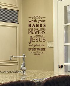 Vinyl Wall Decal Wash Your Hands Sign Funny home by HouseHoldWords, $25.00