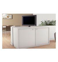 Sistema di sollevamento TV elettrico GIREVOLE 210° portata 65 kg corsa 635 mm Misura A=698 mm B=629 mm