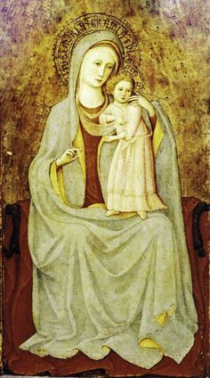 Fra Angelico (Italian painter, 1387-1455) Madonna and Child