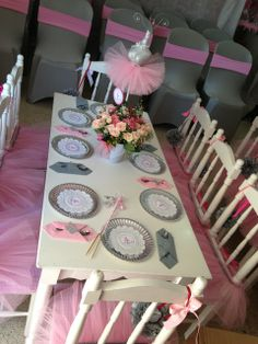 Pink ballerina girl Birthday Party!  See more party ideas at CatchMyParty.com!