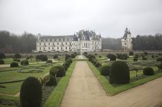 Chateau Chenonceau, Loire Valley, France - Wow, and the house proper is built over a river...so cool! I want to go to here.