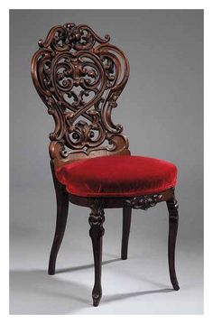American Rococo Carved Rosewood Slipper Chair, mid-19th c., related to John Henry Belter, New York.