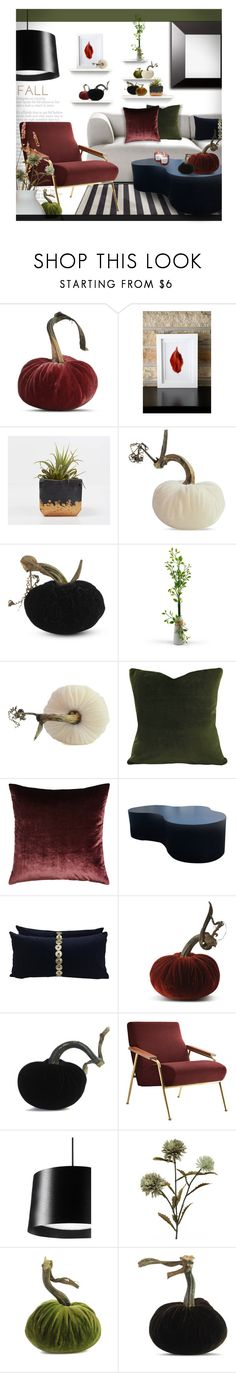 """""""Contest ~ Use a Plush Pumpkin!"""" by tiffanysblues ❤ liked on Polyvore featuring interior, interiors, interior design, home, home decor, interior decorating, De Padova and Eastern Accents"""