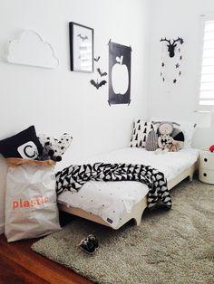 Black and white toddler room — The Little Design Corner