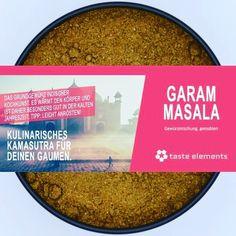 Taste-Tipp: Die Würzmischung kann entweder zu Beginn des Kochvorgangs in heißem Fett angeröstet werden meistens wird sie jedoch erst zu Ende hinzugegeben. Viele indische Rezepte verwenden Garam Masala eher sparsam und als Komponente die den Grundgeschmack liefert. Die meisten Gerichte enthalten daher noch weitere Gewürze. - - - #garammasala #indischeküche #bollyfood #indien #gewürze #gewürz #kochen Garam Masala, Fett, Eyeshadow, Chart, Instagram, Beauty, Indian Recipes, Indian Kitchen, Culinary Arts