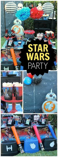 The force awakens at this Star Wars party!  See more party ideas at CatchMyParty.com!