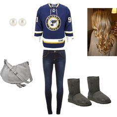 """""""NHL~STL Blues Hometown Love<3"""" by adriannaeberlin on Polyvore"""