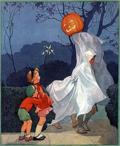 Scary Ghost?--Vintage Halloween Magazine Cover