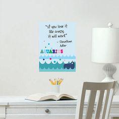 Cute!! Jonathan Adler Aquarius Dry Erase Board Sticker