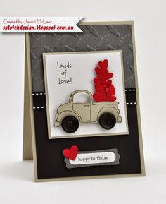 Splotch Design - Jacquii McLeay Independent Stampin' Up! Demonstrator: Masculine Cards