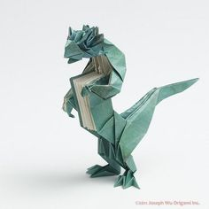 Book-Wyrm, a literal dragon by Joseph Wu Origami, via Flickr