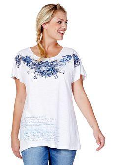 Typ , Shirt, |Material , Baumwolle, |Materialzusammensetzung , 100% Baumwolle, |Gesamtlänge , größenangepasst, ca. 72 bis 80 cm, | ...