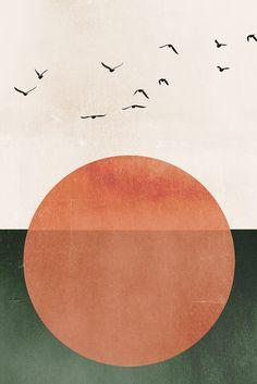 Abstract Drawings, Abstract Canvas, Abstract Geometric Art, Art Et Illustration, Ink Illustrations, Art Vert, Art Minimaliste, Scandinavian Art, Art Moderne