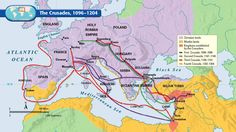 Battle of the Crusades Map | The Crusades, 1096-1204