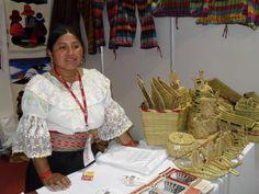 Cesteria, artesana de Otavalo.Ecuador Foto:Celia López