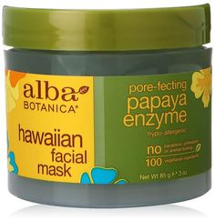 """Alba Botanica Hawaiian Facial Mask, $15, Walmart. """"This mask is perfect for my clients who have large pores or acne. It uses Papua enzymes that dissolve impurities from the skin and improves the skin's texture,"""" says McNamara, whose clients include Holly Fulger and Lucia Ryker."""