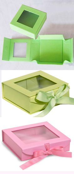 New design folding rigid paper gift boxes, flat pack available to save shipping cost. And good to display show inside product with clear pvc window. Cardboard Gift Boxes, Cardboard Paper, Paper Gift Box, Paper Gifts, Diy Paper, Diy Gift Box, Diy Box, Gift Boxes With Lids, Origami Box