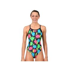 Women's Dolfin Winners V-2 Open-Back One-Piece Swimsuit, Size: 40 Comp, Game
