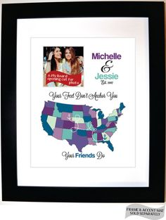 Christmas Gift For Friend Sister Cousin Bestie Mom Sorority Or Living Far Apart Moving Away
