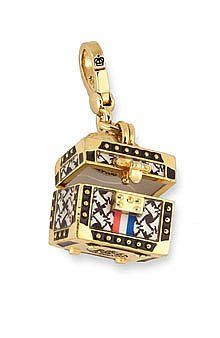 JUICY COUTURE TRAINCASE TRUNK CHARM FOR BRACELET WRISTLET DAYDREAMER BAG YJRU226