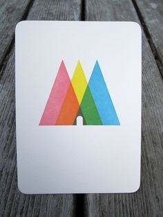 Triangle Print - FORTRESS LETTERPRESS + DESIGN