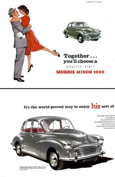 Morris Minor ad-Morris Minor - Wikipedia, the free encyclopedia  en.wikipedia.org/wiki/Morris_Minor  The Morris Minor is a British economy car that debuted at the Earls Court Motor Show, London, on 20 September 1948.