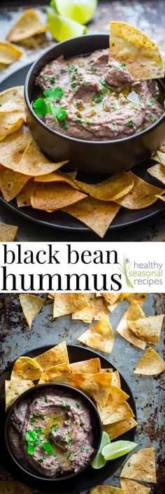 hummus Black Bean Hummus, one of the BEST easy appetizers. Serve with veggies or tortilla chips. It is naturally gluten-free too! via Bean Hummus, one of the BEST easy appetizers. Serve with veggies or tortilla chips. It is naturally gluten-free too! Vegan Appetizers, Appetizer Recipes, Party Appetizers, Easiest Appetizers, Sandwich Appetizers, Dinner Recipes, Vegan Sandwich Filling, Whole Food Recipes, Cooking Recipes