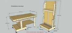 Un établi très pratique pour son aspect modulaire et pratique en rangement