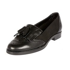 Black leather tassel loafers - loafers / pumps - shoes / boots - women