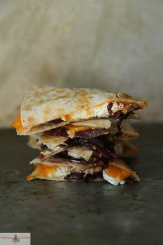 Butternut Squash and Goat Cheese Quesadillas by Heather Christo, via Flickr
