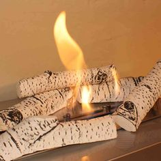 Silver Birch Premium Ceramic Logs