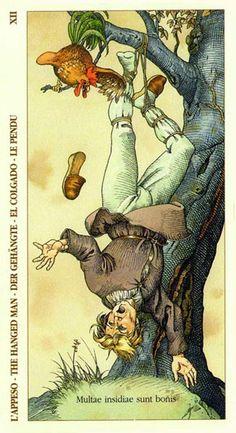 XII. The Hanged Man - Albrecht Dürer Tarot (2002) by Giacinto Gaudenzi