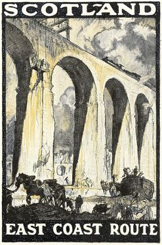 Scotland - East Coast Route - poster for the London  North Eastern Railway by Frank Brangwyn RA, 1924