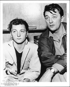 Robert Mitchum with Son James Mitchum in Thunder Road   1958