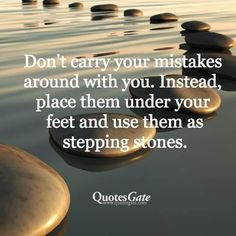 Mistakes... Stepping stones