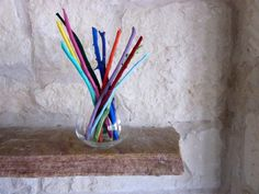 Colorful Home Decor Branches in Vase by CarriageOakCottage on Etsy, $20.00