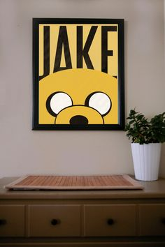 Adventure Time / Jake / Poster. $18.00, via Etsy.