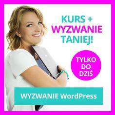 Nie dokończyłaś wyzwania WP albo pragniesz ruszyć ze swoją stroną z podwójną mocą WP? Do końca dnia kupisz kurs w promocyjnej cenie 119 zł a w bonusie dostaniesz nielimitowany dostęp do zadań z wyzwania! Czego nauczysz się z kursu: Wybierzesz hosting i domenę oraz poznasz WordPressa! Wybierzesz motyw graficzny i stworzysz piękną stronę WWW.  Stworzysz harmonogram prac nad stroną i określisz swoją grupę odbiorców.  Zachęcisz czytelników do zostania na dłużej  pokażę Ci jak pisać chwytliwe…
