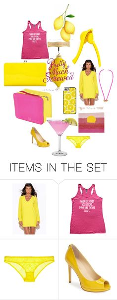 """""""Hot Pink Lemonade"""" by jennawrites ❤ liked on Polyvore featuring art"""