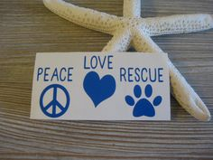 Peace Love Rescue Decal - Peace Decal - Love Decal - Rescue Decal - Animal Car Decal - Car Decal - Monogram Decal - Peace - Love - Rescue by TheSaltyKiss on Etsy