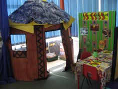 African Hut Roleplay Meerkat Mail, Lighthouse Keepers Lunch, Handas Surprise, African Hut, Role Play Areas, Around The World In 80 Days, Nursery School, Year 2, Eyfs