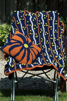 Groovy Crocheted Lap Blanket and Pillow, Throw and Pillow by SutakuBoutique on Etsy Lap Blanket, Beautiful Hands, Color Splash, Hand Knitting, Crocheting, Knit Crochet, Little Girls, My Etsy Shop, Pillows