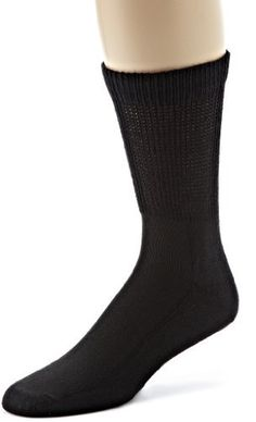 ECCO Men's Crew Anklet Diabetic Sport Socks, Black, 10-13 ECCO. $5.75. 80% Cotton/12% Polyester/2% Spandex. Reduces foot pressure, extra soft coton. Machine Wash. Non-binding extra wide cuff. Soft cushion soles, prevents foot irritation, abrasion and blister. Reduces foot pressure. Extra soft coton