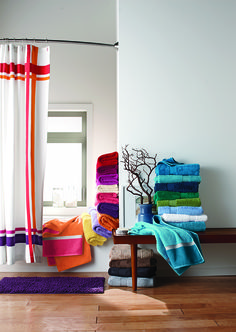 Fill your bathroom with stacks of fluffy towels from @thecompanystore.