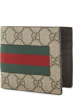 05847f2fdf5 GUCCI Web GG supreme billfold wallet Billfold Wallet