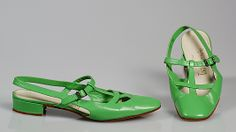 I had shoes just like this, but were patten leather... c. 1965.  Too cute :-)