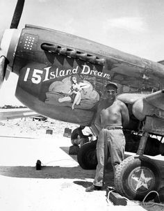 """""""Island Dream"""" Tactical Recon Group Image may contain: 1 person, smiling Nose Art, Military Art, Military History, Military Pins, Fighter Pilot, Fighter Jets, Pin Up, Aircraft Painting, Airplane Art"""