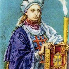 Dobrawa na portrecie Jana Matejki (źródło: domena publiczna). Nasu, Princess Zelda, Painting, Fictional Characters, Ancestry, Royals, Queens, Historia, Painting Art