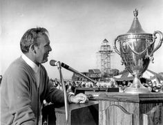 1969 Arnold Palmer wins the first every Heritage Golf Tournament on Hilton Head Island