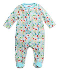 Look what I found on #zulily! Gray & Blue Triangulum Footie - Infant #zulilyfinds